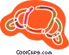 Vector Clip Art picture  of a Colorful croissant