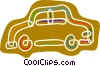 Vector Clipart image  of a Colorful family car