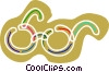 Vector Clipart illustration  of a Colorful eye glasses