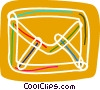 Vector Clip Art image  of a Colorful envelope
