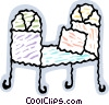 Colorful bed Vector Clipart picture