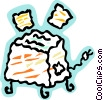 Vector Clipart image  of a Toaster and bread
