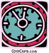 Vector Clipart image  of a Wall clock