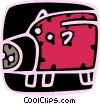 Vector Clipart picture  of a Piggy bank