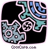 Colorful gears Vector Clipart graphic