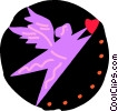 Cupid with heart Vector Clipart picture