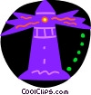Vector Clipart graphic  of a Colorful lighthouse