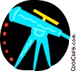 Colorful telescope Vector Clip Art image