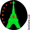 Vector Clip Art picture  of a Eiffel Tower