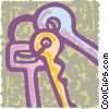 Vector Clipart graphic  of a Keys and Locks