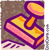 Vector Clipart picture  of a Rubber Stamps