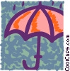 Vector Clip Art picture  of a Umbrellas