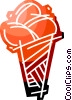 Ice cream cone Vector Clipart graphic