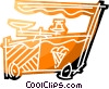 Vector Clipart illustration  of a Ice cream vending cart