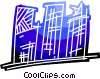 Apartment complex Vector Clipart illustration