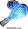 Tennis racket and ball Vector Clipart illustration