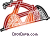 Vector Clipart image  of a Racing bike