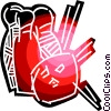 Vector Clipart image  of a Bowling ball and pins