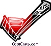 Vector Clipart picture  of a Hockey stick and puck