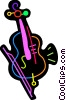 Vector Clip Art graphic  of a Colorful violin