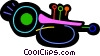 Vector Clip Art picture  of a Colorful trumpet