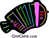 Vector Clip Art graphic  of a Colorful Accordion