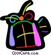 Vector Clip Art graphic  of a Colorful birthday gift
