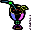 Vector Clip Art image  of a Colorful mixed drink