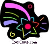 Vector Clip Art image  of a Colorful shooting star