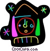 Vector Clipart image  of a Colorful wall clock