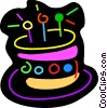 Birthday cake Vector Clipart graphic
