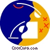 Ringing telephone Vector Clipart picture