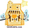 Vector Clip Art graphic  of a Western Saloon