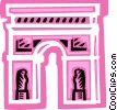 Vector Clipart image  of an Arc de Triomphe