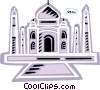Vector Clip Art picture  of a Taj Mahal