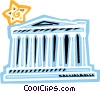 Vector Clip Art image  of a The Parthenon