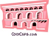 Vector Clip Art graphic  of a Roman Aqueducts