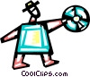 Businessman with cd-rom Vector Clip Art image
