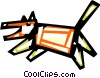 Angry dog barking Vector Clipart illustration