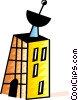Vector Clip Art graphic  of an Apartment building with