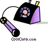 Vector Clip Art image  of a Telephone off the hook