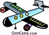 Vector Clip Art image  of a Commercial prop plane