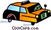 Vector Clip Art graphic  of a Taxi cab