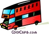 Vector Clip Art image  of a Double decker bus