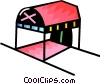 Vector Clip Art image  of a Hotel entrance