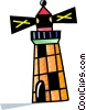 Vector Clipart picture  of a Colorful lighthouse