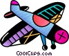 Single engine prop plane Vector Clip Art image