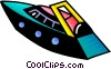 Vector Clip Art picture  of a Luxury speed yacht
