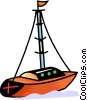 Vector Clipart illustration  of a Colorful sailboat