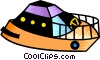 Vector Clipart image  of a Luxury yacht